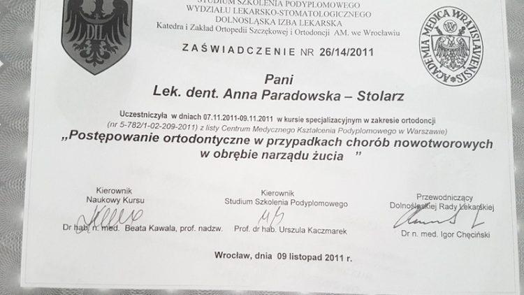 Postępowanie Ortodontyczne w Przypadkach Chorób Nowotworowych w Obrębie Narządu Żucia